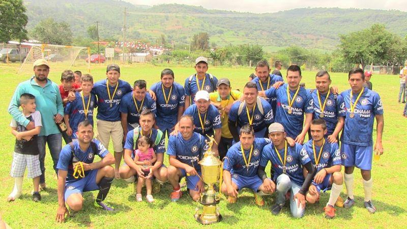 Torneo de fútbol varonil categoría libre del Cahulote de Santa Ana